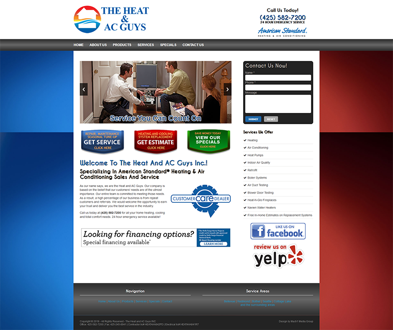 Websites and Web Development | Air Conditioning | Heating | HVAC ...